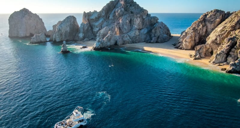 flying over Cabo San Lucas